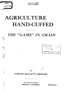 Download Agriculture Hand cuffed Book