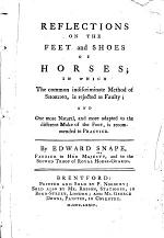 Reflections on the Feet and Shoes of Horses ...