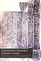 Zeitschrift des Deutschen Palästina-Vereins: Bände 16-18