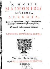Opuscula selecta