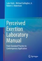 Perceived Exertion Laboratory Manual PDF