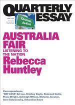 Quarterly Essay 73 Australia Fair
