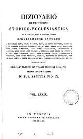 Dizionario di erudizione storico-ecclesiastica da s. Pietro sino ai nostri giorni