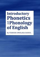 Introductory Phonetics and Phonology of English PDF