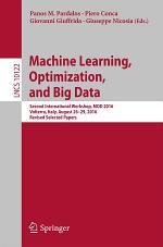 Machine Learning, Optimization, and Big Data