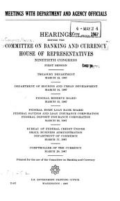 Meetings with Department and Agency Officials PDF