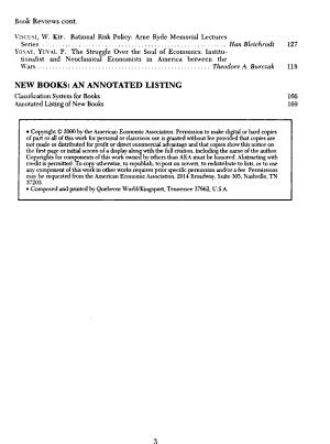 Journal of Economic Literature PDF