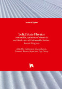 Solid State PhysicsMetastable, Spintronics Materials and Mechanics of Deformable Bodies