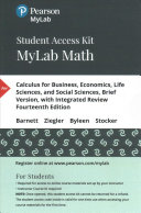 Calculus for Business  Economics  Life Sciences  and Social Sciences  Brief Version  With Integrated Review MyLab Math Access Code PDF