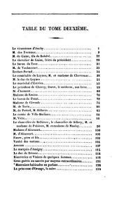 Les historiettes: mémoires pour servir à l'histoire du XVIIe siècle, Volume2