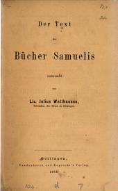 Der Text der Bücher Samuelis