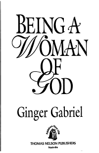 Being a Woman of God