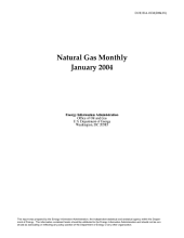 Natural Gas Monthly: January 2004