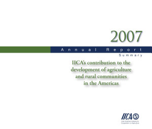 IICAs contribution to the development of agriculture and rural communities in the Americas PDF