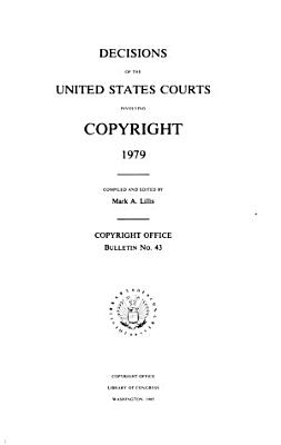 Decisions of the United States Courts Involving Copyright PDF