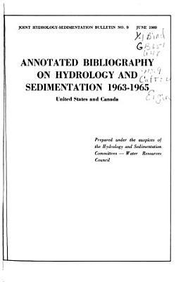 Joint Hydrology sedimentation Bulletin