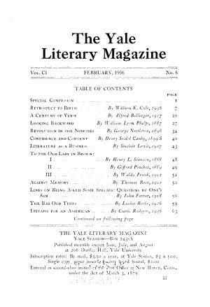 The Yale Literary Magazine  centennial Number  PDF