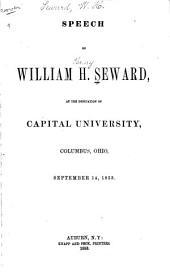 Speech at the Dedication of Capital University, Columbus, O., September 14, 1853