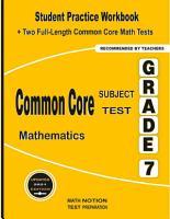 Common core Subject Test Mathematics Grade 7 PDF