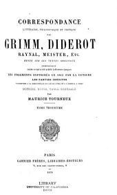 Correspondance littéraire: Volume3