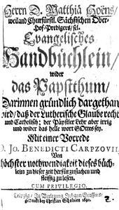 Evangelisches Handbüchlein wider das Papstthum ...