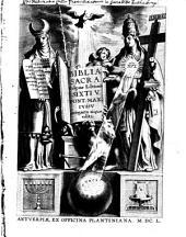 Biblia sacra vulgatae editionis Sixti V. jussu recognita atque edita. - Antverpia, Plantinus 1650
