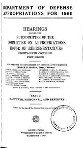 Department of Defense Appropriations for 1960 PDF