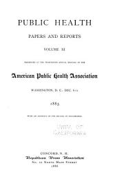 Public Health Papers and Reports: Volume 11