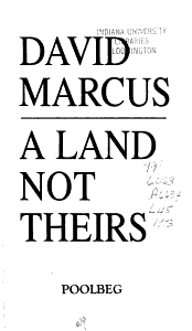 A Land Not Theirs Book