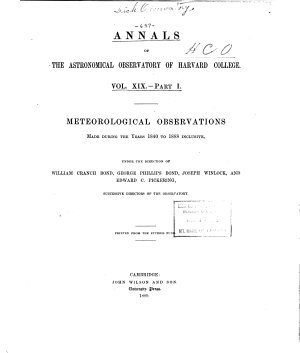 Annals of the Astronomical Observatory of Harvard College PDF