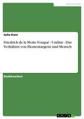 Friedrich de la Motte Fouqué - Undine - Das Verhältnis von Elementargeist und Mensch