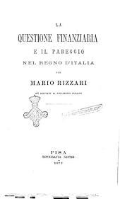 La questione finanziaria e il pareggio nel Regno d'Italia per Mario Rizzari