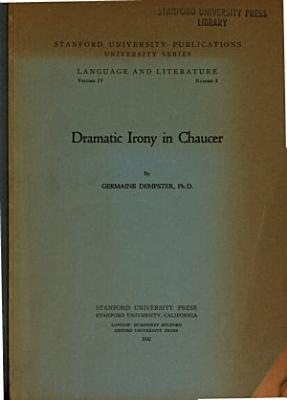 Dramatic Irony in Chaucer PDF