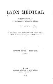 Lyon médical: Volume18