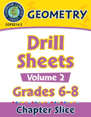 Geometry   Drill Sheets Vol  2 Gr  6 8