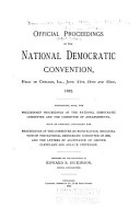 Official Report of the Proceedings of the Democratic National Convention and Committee PDF