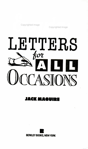 Everyday Letters for All Occasions PDF