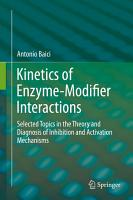 Kinetics of Enzyme Modifier Interactions PDF