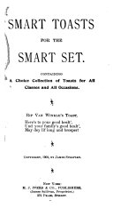 Download Smart Toasts for the Smart Set Book
