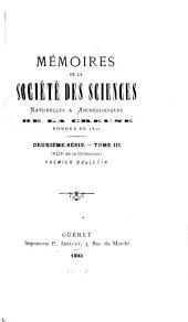 Mémoires de la Société des sciences naturelles et archéologiques de la Creuse, Guberet: Volume8