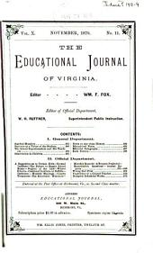 The Educational Journal of Virginia: Volume 10