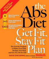 The Abs Diet Get Fit  Stay Fit Plan PDF