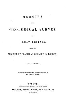 Memoirs of the Geological Survey of Great Britain  and of the Museum of Practical Geology in London PDF