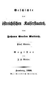 Geschichte des österreichischen Kaiserstaates: Register. 6
