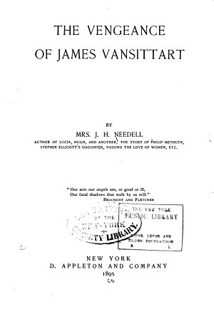 The Vengeance of James Vansittart PDF