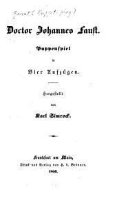 Doctor Johannes Faust: Puppenspiel in vier aufzügen
