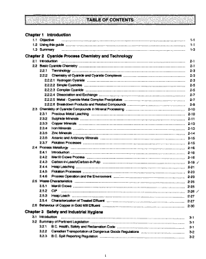 Technical Guide for the Environmental Management of Cyanide in Mining