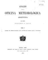 Anales de la Oficina Meteorológica Argentina: Volumen 5