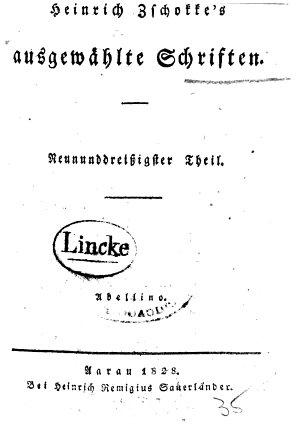 Heinrich Zschokke s Ausgew  hlte Schriften      Th  Abellino PDF