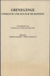 Grenzgänge: Literatur und Kultur im Kontext